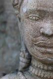 Nahaufnahmegesicht Buddha-Sandskulptur Lizenzfreie Stockfotografie