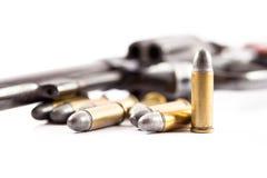 Nahaufnahmegewehrkugeln für Gewehr Stockfotografie