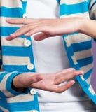 Nahaufnahmehände Stockbild