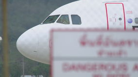 Nahaufnahmekabine des Flugzeuges stock footage