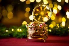 Nahaufnahmelebkuchen und Zuckerstangeglas lizenzfreie stockfotografie