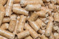 Nahaufnahmemakrofüller für Katzenhaustier-Haustiertoilette Gepresstes hölzernes sauberes Sägemehl egology, kein Geruch für das Ha lizenzfreies stockfoto