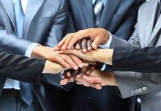 Nahaufnahmeporträt der Gruppe Geschäftsleute Stockfoto