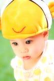Nahaufnahmeporträt des kleinen asiatischen Mädchens Lizenzfreies Stockbild