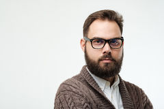 Nahaufnahmeporträt des Mannes mit Bart lizenzfreie stockfotografie