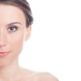 Nahaufnahmeporträt des schönen, frischen, gesunden Mädchens Stockbilder