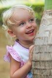 Nahaufnahmeporträt ein Kind des kleinen Mädchens Lizenzfreies Stockbild