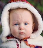 Nahaufnahmeporträt eines Babys Stockfotografie