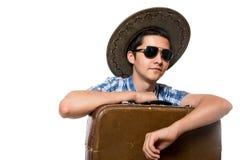 Nahaufnahmeporträt eines jungen Touristen Lizenzfreie Stockfotografie