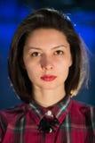 Nahaufnahmeporträt eines Mädchens Lizenzfreies Stockfoto