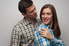 Nahaufnahmeporträt von Mitte gealterten Paaren stockfotografie