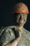 Nahaufnahmeportrait-Arbeitskraftmann stockbild