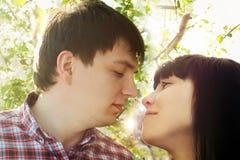 Nahaufnahmeportrait der jungen Paare Lizenzfreies Stockbild