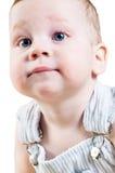 Nahaufnahmeportrait des entzückenden Babys Stockbilder