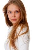 Nahaufnahmeportrait einer attraktiven Frau stockbilder