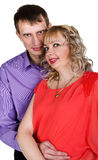 Nahaufnahmeportrait eines glücklichen jungen Paares Lizenzfreie Stockfotos
