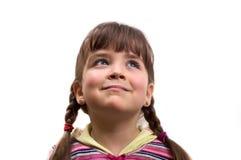 Nahaufnahmeportrait eines jungen Mädchens. Stockfoto