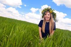 Nahaufnahmeportrait eines schönen Mädchens Lizenzfreies Stockbild