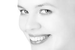 Nahaufnahmeschönheits-Mädchengesicht Lizenzfreie Stockbilder