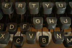 Nahaufnahmeschreibmaschine Lizenzfreies Stockbild