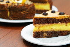 Nahaufnahmestück des Kuchens Lizenzfreies Stockfoto