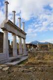 Nahaufnahmetempel von Pompeji Stockfotos
