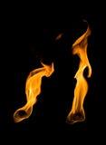 Nahaufnahmezunge der Flamme Lizenzfreie Stockbilder