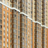 Nahe Ansicht über residental Gebäude Stockfotografie