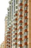 Nahe Ansicht über residental Gebäude Lizenzfreie Stockfotos