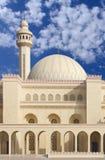 Nahe Ansicht der Al Fateh Moschee, blickend in Richtung Nanowatt Lizenzfreie Stockfotos