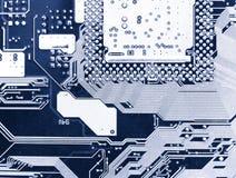 Nahe Ansicht des Computer-Chips Stockfotografie