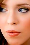 Nahe Ansicht des Gesichtes der Frau Lizenzfreie Stockbilder