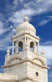 Nahe Ansicht des Minaretts der Victoria-Erinnerungshalle Lizenzfreie Stockbilder