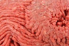 Nahe Ansicht des Rinderhackfleischs Lizenzfreie Stockfotos