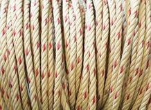 Nahe Ansicht eines industriellen Seils Lizenzfreie Stockfotografie