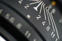 Nahe Ansicht eines leica Objektivs Lizenzfreie Stockbilder