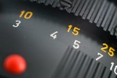 Nahe Ansicht eines leica Objektivs lizenzfreie stockfotografie
