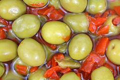 Nahe Ansicht narbige Oliven Stockbilder