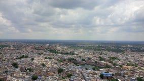 Nahe Ansicht von Jodhpur von den Höhen Lizenzfreies Stockbild