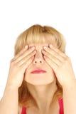 Nahe Augen der Frau Stockbilder
