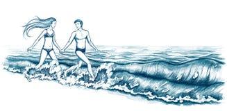 Nahe dem Meer stock abbildung