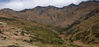 Nahe der Spitze des Bergs Pisa nahe Cromwell in zentralem Otago, Neuseeland stockfoto