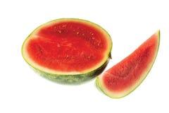 Nahe hohe Ansicht der roten geschnittenen Wassermelone Gesundes Nahrungsmittelkonzept lizenzfreies stockfoto