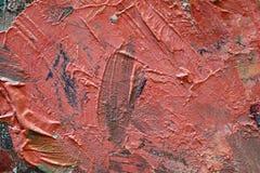 Nahe hohe Beschaffenheit des Ölgemäldes mit Bürstenanschlägen Stockbilder