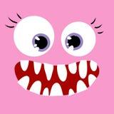 Nahe oben-glückliche Frau des Monsters Lizenzfreie Stockfotografie