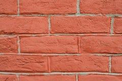 Nahe Perspektive der Wand des roten Backsteins lizenzfreie stockbilder