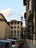 Nahe Straßen einer mittelalterlichen Stadt stockfotos