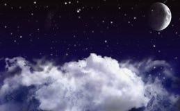 Naher Himmel Hintergrund Lizenzfreie Stockbilder