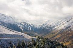 Naherfst van een vallei Royalty-vrije Stock Afbeeldingen