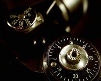 Nahes Detail über eine Kamera Stockfoto